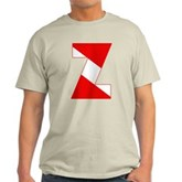 Scuba Flag Letter Z Light T-Shirt