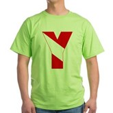 Scuba Flag Letter Y Green T-Shirt