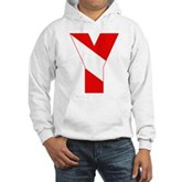 Scuba Flag Letter Y Hooded Sweatshirt