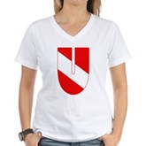 Scuba Flag Letter U Women's V-Neck T-Shirt