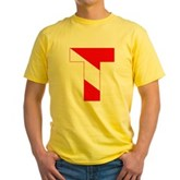 Scuba Flag Letter T Yellow T-Shirt