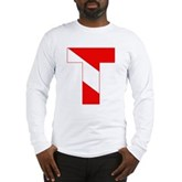 Scuba Flag Letter T Long Sleeve T-Shirt