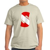 Scuba Flag Letter S Light T-Shirt