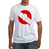 Scuba Flag Letter Q Fitted T-Shirt