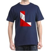 Scuba Flag Letter L Dark T-Shirt