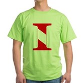 Scuba Flag Letter I Green T-Shirt