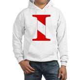 Scuba Flag Letter I Hooded Sweatshirt
