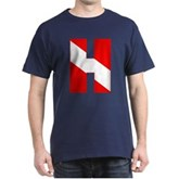Scuba Flag Letter H Dark T-Shirt