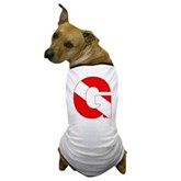 Scuba Flag Letter G Dog T-Shirt