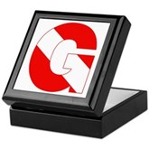 Scuba Flag Letter G Keepsake Box