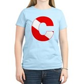 Scuba Flag Letter C Women's Light T-Shirt