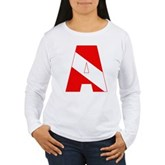Scuba Flag Letter A Women's Long Sleeve T-Shirt