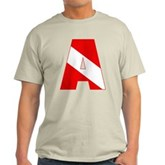 Scuba Flag Letter A Light T-Shirt