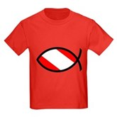 Scuba Flag Ichthys Kids Dark T-Shirt