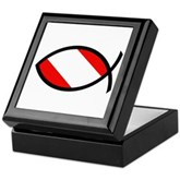 Scuba Flag Ichthys Keepsake Box