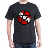 Scuba Flag Pentagram Dark T-Shirt