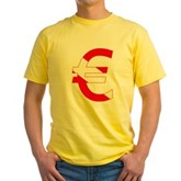 Scuba Flag Euro Sign Yellow T-Shirt
