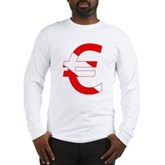 Scuba Flag Euro Sign Long Sleeve T-Shirt