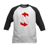 Scuba Flag Dollar Sign Kids Baseball Jersey