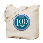 100 Dives Milestone Tote Bag