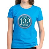 100 Dives Milestone Women's Dark T-Shirt