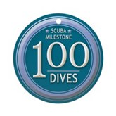 100 Dives Milestone Ornament (Round)