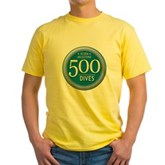 500 Dives Milestone Yellow T-Shirt