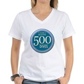 500 Dives Milestone Women's V-Neck T-Shirt
