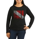Barcode Dive Flag Women's Long Sleeve Dark T-Shirt