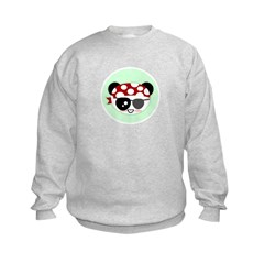 Pirate Panda Kids Sweatshirt