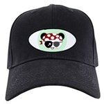 Pirate Panda Black Cap
