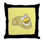 Son of a Bee Sting! Throw Pillow
