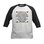 My Sister is in Iraq Poem Kids Baseball Jersey