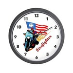 Firefighter Biker Wall Clock