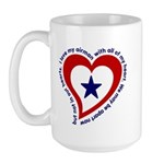 Heart service Flag - Airman Large Mug