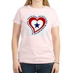 Heart service Flag - Airman Women's Pink T-Shirt