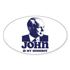 John is My Homeboy Sticker (Oval)