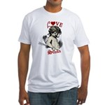 Love Stinks Cupid Valentine Fitted T-Shirt
