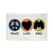 Peace Love Bird Rectangle Magnet