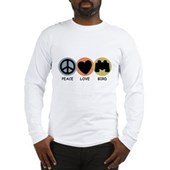 Peace Love Bird Long Sleeve T-Shirt