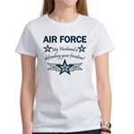 Husband Defending Freedom AF Women's T-Shirt
