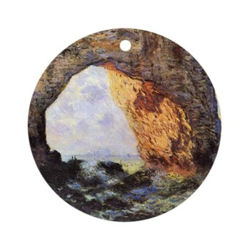 Cliff by Monet Round Ornament
