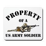 Property US Army Soldier Military Mousepad