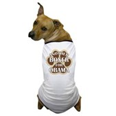 This dog shirts says Another Boxer For Obama, backed by a big dog paw print. A cute t-shirt for your Boxer to wear, out on a walk or at your next political rally! Support Barack Obama for President!