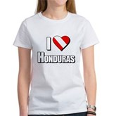  Scuba: I Love Honduras Women's T-Shirt
