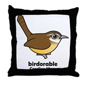 Birdorable Carolina Wren Throw Pillow