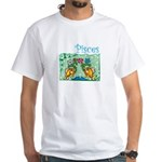 Up Stream Pisces White T-Shirt