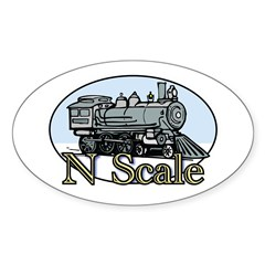 N Scale Sticker (Oval)