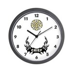 Fire Chief Bugles Wall Clock