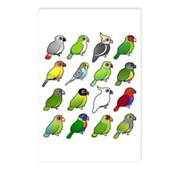 16 Birdorable Parrots Postcards (Package of 8)